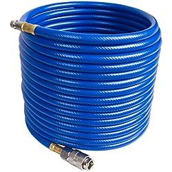 CCLIFE Tuyau d'air comprimé pour compresseur (longueur: 10m ; raccords 1/4') - flexible d'air du compresseur - 20 bars