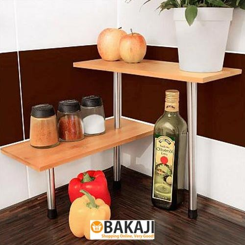 Mensole da cucina in bamboo - 2 ripiani 36 X 15 cm - perfetta per ...