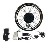 Funnyrunstore Motore del mozzo brushless Ruota Posteriore Motore Bici elettrica Kit di conversione E-Bike 36V 250W Kit Bici elettrica 26 Pollici