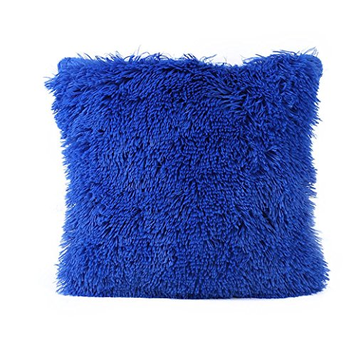 Kissenbezug Cashmere-Feeling Kopfkissen Sofa Lendenkissen Wurf Wohnkultur 43cm x 43cm / 16 x 16inch LuckyGirls (Blau) (Blaue Couch)