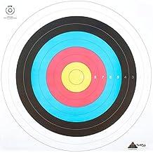 Juego de 12dianas Anglaises (100% papel para el tiro con arco–Dimensiones 80x 80–para el ocio o la competición