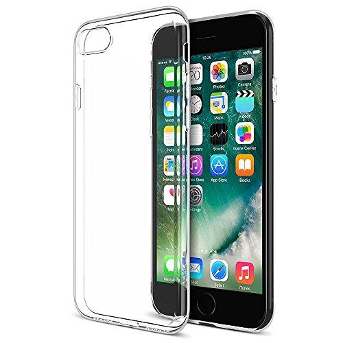Coque iPhone 8 - TECHGEAR® iPhone 8, iPhone 7 [AirFlex Case] Coque Protective Flexible Mince et Légère en Gel TPU avec Touches Intégrées