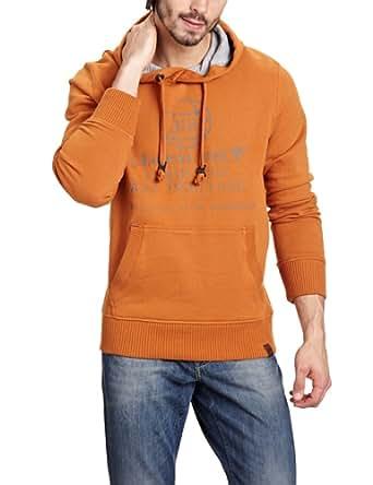 Camel Active Herren Sweatshirt Comfort Fit 217385, Gr. 52 (L), Orange (67 orange)