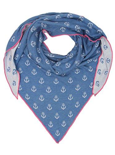 Zwillingsherz Dreieckstuch mit Baumwolle - Hochwertiger Schal mit Anker Print für Damen Jungen Mädchen - XXL Hals-Tuch und Damenschal - Strick-Waren - für Winter Sommer von Cashmere Dreams bl/pin