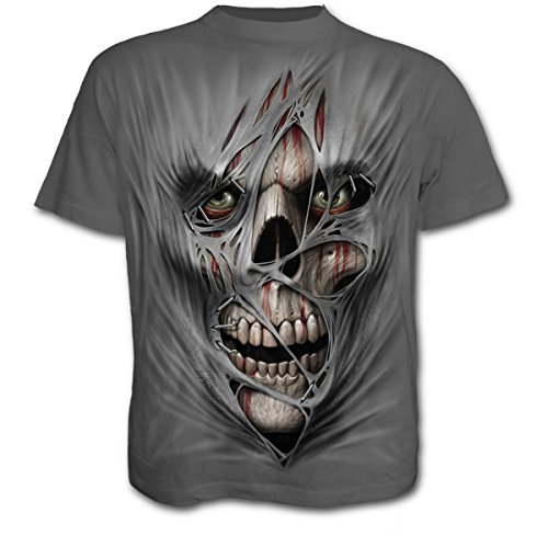 Spiral Stitched Up T-Shirt carbone M
