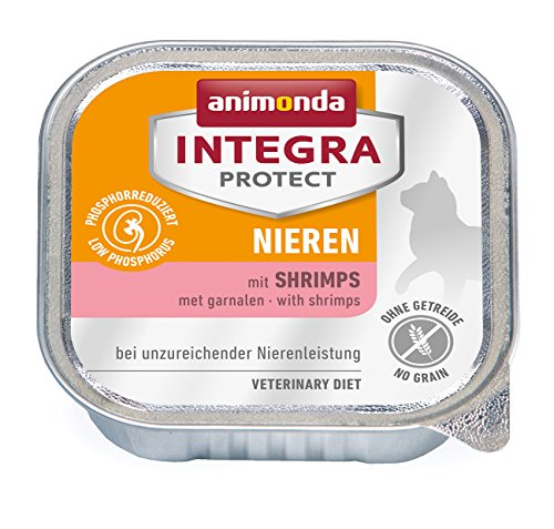 Animonda Integra Protect Nieren mit Shrimps 16 x 100 g Schalen, 1er Pack (1 x 1.6 kg)