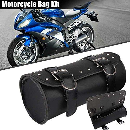 symboat Moto Sillín Bolsa PU Piel Barril Equipaje Viaje Equipaje Moto Rollo Bolsas para Harley