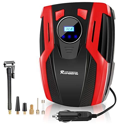 Compressore Auto Portatile Mini Pompa Aria Elettrica Ricaricabile per Pneumatici con Schermo Retroilluminato LCD Digitale 150PSI 35L/MIN Illuminazione Multifunzione per Auto Moto