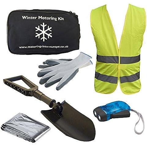 Seguridad de los coches de motor Kit de invierno, frío Essentials Kit de preparación de, la nieve y el hielo, 6piezas Kit de desglose de emergencia