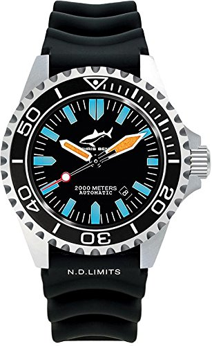 Chris Benz Deep 2000m Automatic CB-2000A-G1-KB Reloj Automático para hombres Reloj de Buceo