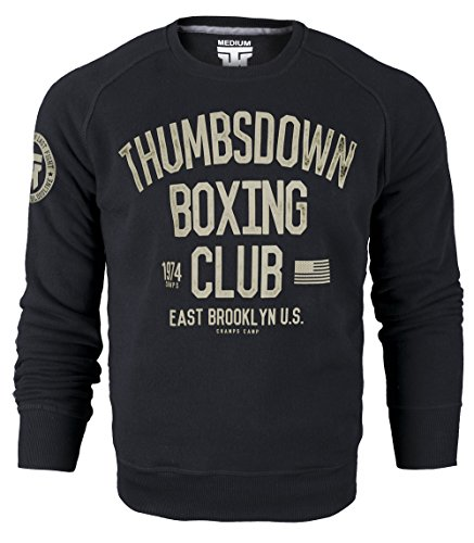 Thumbsdown Boxing Club 1974. Crewneck Sweatshirt. East Brooklyn U.S. Champs Camp. Thumbsdown Last Fight. Kampfsport Kleidung. Fightwear. Training. Casual. Gym. MMA Hoodie(Größe XXLarge)