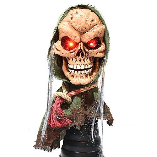 YHOOEE Skelett Halloween Horror Dekoration Halloween Horror Geist Spuk Scary Schädel Halloween Gruselige Requisiten Party Horror Scary Requisiten,Green (Green Halloween-kostüme Ninja)