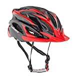 Leadtry HM-3casco de la bici Ultraligero Integralmente moldeados EPS casco de bicicleta casco de seguridad especializados para carretera/montaña terreno para Bicicleta con cómodo lavable almohadillas de antibacteriano, negro y rojo