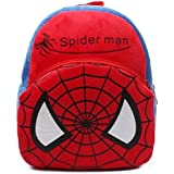 Blue Tree School Bag For Kids/Girls/Boys/Children Plush Soft Bag Backpack Spiderman Cartoon Bag Gift For Kids Cartoon Toy Cute Birthday Return Gift/ School Bag/ Travelling Carry Picnic Bag/ Teddy Bag For Children (Red Blue_3 To 5 Year)