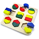 #10: Celebration™ Wooden Shapes Sorter Blocks Puzzle for Children Ages 3+ Years, Assorted Designs 1 Pc Only