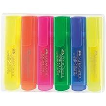 Faber-Castell 154642 - Estuche con 6 marcadores fluorescentes, varios colores