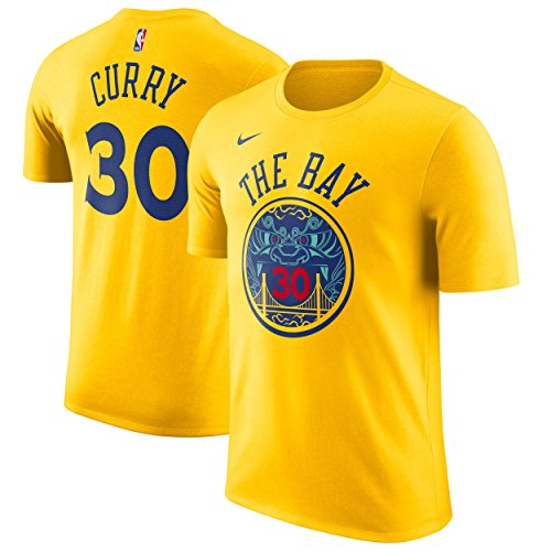 Nike NBA Golden State Warriors Stephen Curry 30 SC30 2017 2018 City Edition Name & Number Official, Camiseta de Niño
