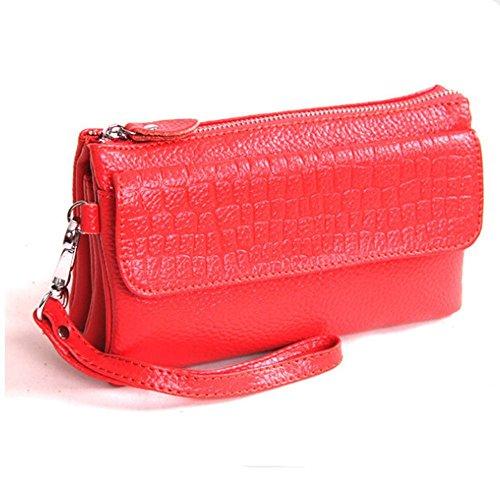 Eysee, Poschette giorno donna Rosso viola 17cm*16cm*5cm Rosso anguria