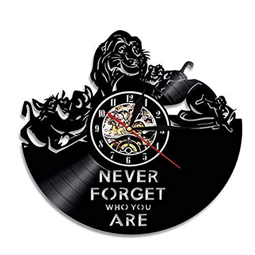 HJF Vinyl Record Wanduhr, König der Löwen -