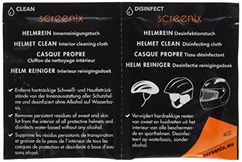 Screenix Helmrein Reinigungs- und Desinfektionstücher, 12 Stück