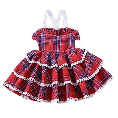 Blaward Baby Mädchen Sommer Kleidung Kleid Tutu Rock Prinzessin Kleider Plaid Dressing ()