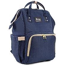 Cornasee extragrande cambiar pañales mochila bolsa impermeable hombro bolsas para viajar y uso diario, azul marino