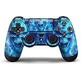 GameXcel ® El regulador de Sony PS4 piel - Playstation personalizado 4 a distancia de vinilo pegatinas - PlayStation 4 Joystick Decal - Blue Daemon [ Controlador no está incluido]