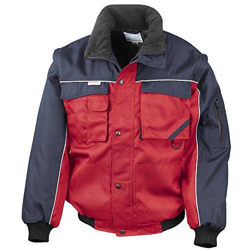 Result Work-Guard Work-Guard zip sleeve heavy duty pilot jacket Red/ Navy S -