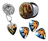 Nirvana Collection With 3 Double Sided Loose Guitar Médiators Picks & Collier in Tin