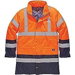 Dickies SA7004Orn S tamaño pequeño de alta visibilidad Parka chaqueta–naranja/azul marino, multicolor, SA7004 ORN S