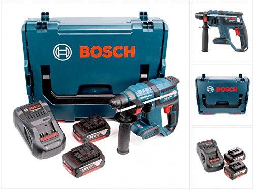 Preisvergleich Produktbild Bosch GBH 18 V-EC brushless Bohrhammer Professional SDS-Plus in L-Boxx mit GAL 1880 CV Schnellladegerät und 2x GBA 6 Ah Akku