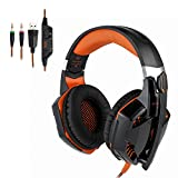 Tsing EACH G2000�video gaming headset Earphones Wired Headphones with Microphone Bass Stereo LED light Volume Control PC Mobile Phone