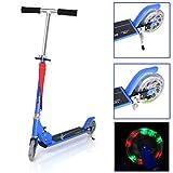 Patinete para niños,Fascol Scooter Patinete Infantil Plegable de dos ruedas , manillar de altura regulable y plegable,Azul