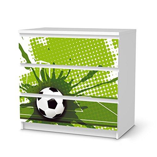 creatisto Jugendzimmer Accessoires für Ikea Malm 3 Schubladen   Möbel-Tattoo Dekoaufkleber   Ideen für Ikea Möbelfolie Kinder-Zimmer Innendeko   Kids Kinder Goal