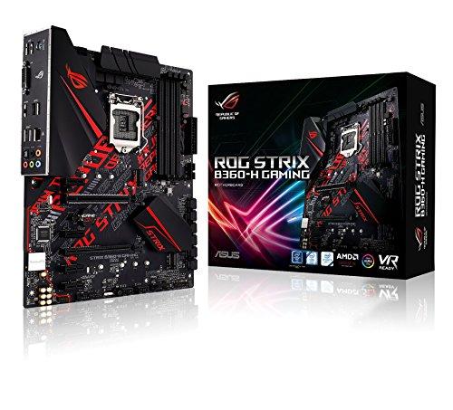 Asus Intel B360 ATX - Aura gaming motherboard with Sync RGB LED lighting, pre-mounted I/O shield, dual M.2, SATA 6Gbps, USB 3.1 Gen 2, HDMI y DVI.