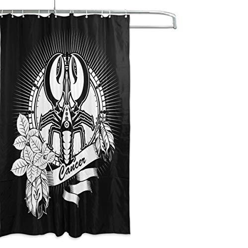 gwegvhvg Abstrakte Element Duschvorhänge für Bad Halloween Hintergrund mit Wolf Bad Duschvorhang 180X180 cm