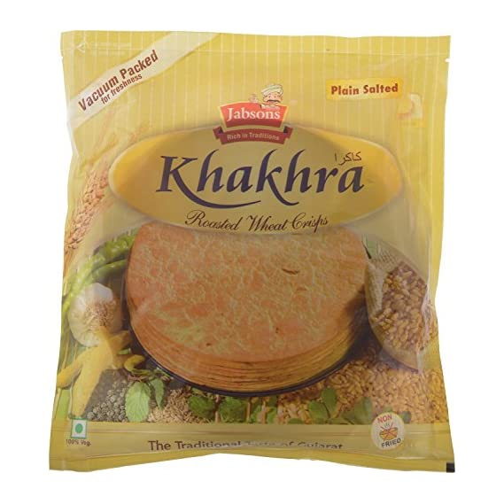 Jabsons Khakhra Plain Salted Vacc 180gm