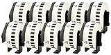 10x Brother DK-22210 29 mm x 30.48 m Cintas de Etiquetas continuas compatibles para Brother P-Touch QL-1050, QL-1050N, QL-1060N, QL-500, QL-500A, QL-500BS, QL-500BW, QL-550, QL-560, QL-560VP, QL-560YX, QL-570, QL-580, QL-580N, QL-650TD, QL-700, QL-710W, QL-720NW Impresoras de etiquetas