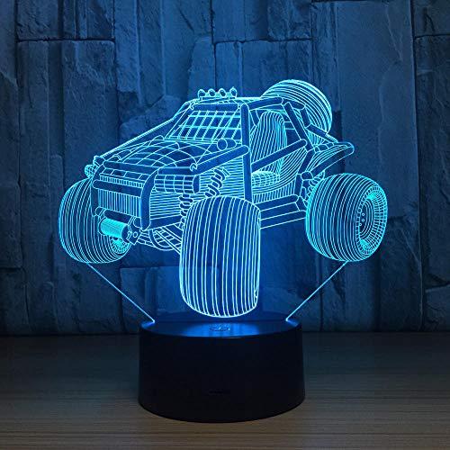 HLDWMX Illusion-Nachtlicht 3D, LED-Schreibtisch-Lampen,Mountainbike 16 Farben USB-Lade, die Schlafzimmer-Dekoration für Kinder Weihnachten Halloween-Geburtstagsgeschenk beleuchten