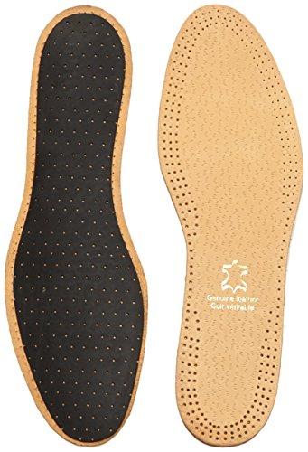 Shoe String Unisex Komfort-Innensohle, Leder, Geruchsentferner, Braun - Braun (Braun) - Größe: 46 EU