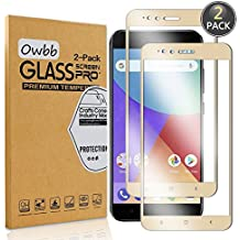 [2 Pack] Owbb Tempered Glass Screen Protector For Xiaomi Mi 5X / Xiaomi Mi A1 Gold Full Coverage Film 99% Hardness High Transparent Explosion-proof