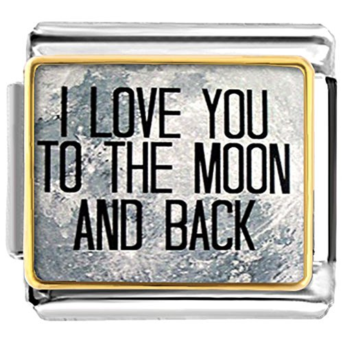 Charms uniqueen I Love You To The Moon And Back Italienisches Nomination Charms Billig Passform Classic links - Von Charme Italienische Disney