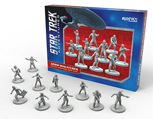 Modiphius MUH051234 The Next Generation Away Team - Decorative Figure (32 mm), design by Star Trek Adventures
