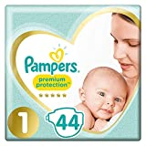 Pampers Premium Protection couches New Baby Taille 1 (2-5 kg), Lot de 2 (2 x 44...