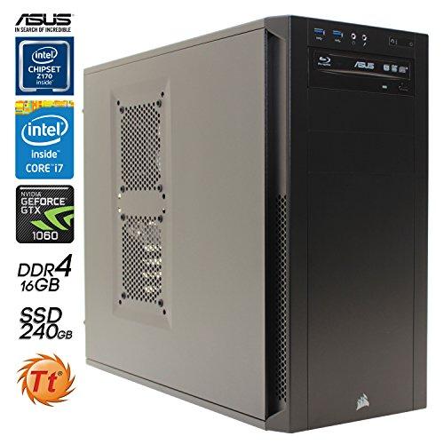 Preisvergleich Produktbild SNOGARD Advanced GAMER-PC Intel® Core i7-6700K 4x 4000MHz • 16GB DDR4-RAM • 240GB S-ATA SSD + 4TB HDD • 6GB ASUS nVidia GeForce GTX 1060 Overclocked • DirectX12 Technology • DVD RW • Gamer PC • Gaming-Computer • Desktop-PC • Gamer Rechner