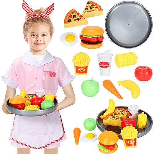 Tacobear Waitress Kostüm Kinder Kellnerin Kinderkostüm Restaurant Rollenspiele Lebensmittel Spielzeug Küchenspielzeug für Kinder Cosplay Geburtstagsparty