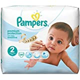 Pampers New Baby Sensitive Couches Taille 2 (Mini) 3 à 6 kg Paquet x28 changes - Lot de 2