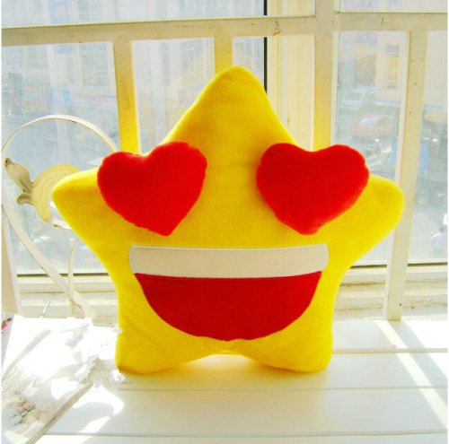 Grabadeal Special Mr And Mrs Couple Star Shaped Plush Cushions