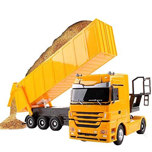 RC Auto kaufen LKW Bild 3: Etanby 1:32 RC Ferngesteuertes Bau LKW Fahrzeug Container Transporter Modell, 2,4 GHz 6-Kanal Ferngesteuertes Baustellenfahrzeug, Baustellenfahrzeug Mit Fernbedienung,Geeignet für Kinder über 6 Jahre*