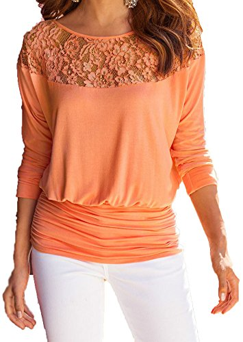 jusfitsu-damen-loose-spitzen-langarm-tops-bluse-fledermaus-lace-t-shirt-casual-oberteil-ubergrosse-o